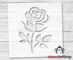 Quality stencils for DIY crafters by StencilChimp Rose Stencil, Stencil Diy, Stencil Painting, Fabric Painting, Beach Stencils, Sign Stencils, Stencil Patterns, Stencil Designs, Paint Designs