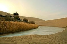 Amazing Lake Crescent in the Oasis Desert in China (12 Photos)