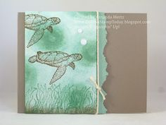 Tie Dyed Turtles - Stampin' Up! From Land to Sea