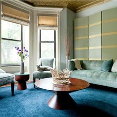 Contemporary (Modern, Retro) Living & Family Room by Elizabeth Aurandt of mercer INTERIOR