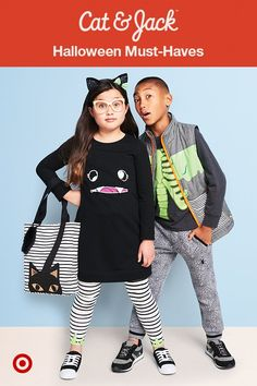 Halloween is right around the corner, and Cat & Jack has adorable must-haves for kids and toddlers that they can wear to get in the spooky spirit. Glow-in-the-dark slime found its way onto our favorite leggings and graphic tees, tiny spiders snuck onto comfy joggers, and black cats crossed this collection's path! Everything is totally mix and match-able, plus stylish and durable enough to wear to school.