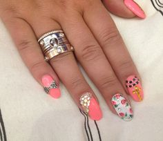 www.sweetynailsny.com Beautiful girly nails but still classy n a bit sassy