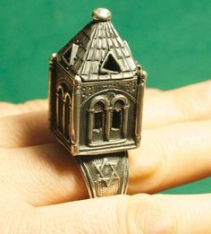 Silver Large Jewish Marriage Weeding Ring Judaica Russian Mint cc. 19th Moscow