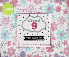 Cloud 9 Petal Blossom White Pink Floral Twin Sheet Set Pillowcase Girls Bedroom #Cloud9 #PetalBlossom