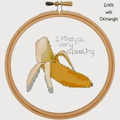 Craft with Ruth Cartwright: Banana Valentine cross stitch pattern