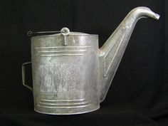 """Vintage Large 22"""" Car Radiator Watering Can For Plants Flowers Galvanized Steel"""