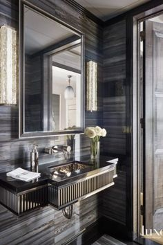 Glamorous and exciting bathroom decor. See more luxurious interior design details at luxxu.net #luxxumoderndesignliving#lifestylebyluxxu#luxury#luxurydesign#luxuryfurniture#furnituredesign#furniture#moderndesign#designinspiration#designinspo#luxuriouslifestyle#interiordesign#modernlamps#luxurylamps#luxurychandeliers#bathroom#bathroomdesign#bathroomselfie#BathroomDecor#bathroomremodel#bathrooms#bathroominspo#bathroomideas#bathroompic#bathroomgoals#bathroomrenovation#usadecor