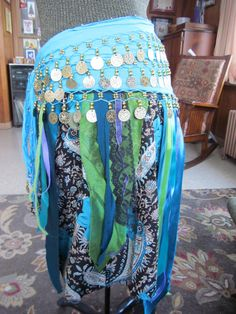 OOAK Redesigned Belly Dance Hip Scarf with Bustle by GaleFridays