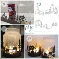 Christmas Crafts, Christmas Decorations, Xmas, Christmas Ornaments, Wine Bottle Crafts, Mason Jar Crafts, Diy And Crafts, Crafts For Kids, Paper Crafts