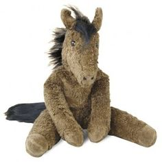 Organic Cotton Plush Horse, handmade in Germany. Filled with pure lambswool. Charming! $59.95