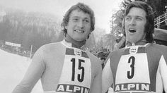 Franz Klammer, Bernhard Russi  Austrian National Skiing Team, Winter Olympics in Innsbrick 1976