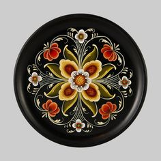 Decorative Wooden Plate - Slavic Design