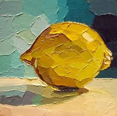 Michael Lang (UK) lemony goodness and background colors. #OilPaintingTexture