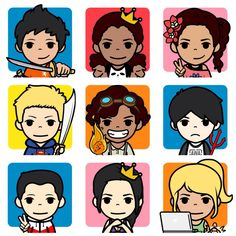 I made some Heroes of Olympus characters on FaceQ! :)<<<<this is perfect