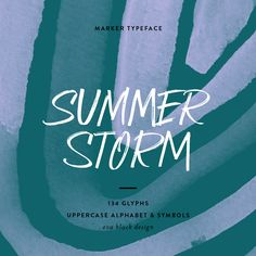 Summer Storm Font - Authentic marker lettering typeface - Eva Black Design