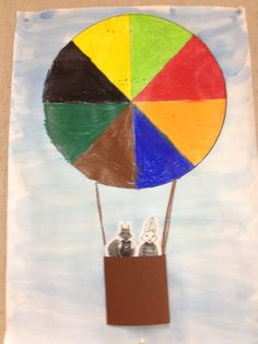 Color wheel hot air balloon could work with Kundera. 4th Grade Art, Transportation Theme, Art For Kids, Crafts For Kids, Arts Ed, Autumn Art, Blue Butterfly, Art Activities, Elementary Art