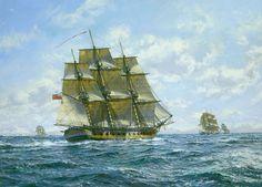 """'HMS Euryalus' off Cadiz,"" by Roy Cross."