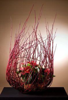From Dutch Creations Ikebana Arrangements, Floral Arrangements, Flower Show, Flower Art, Modern Floral Design, Organic Art, Japanese Flowers, Flower Bouquet Wedding, Flower Bouquets