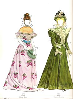 Great Fashions of the Belle Époque: Doll 1  (9 of 16) by Tom Tierney, Dover Publications  | Gabi's Paper Dolls