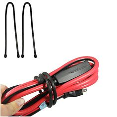Twist Ties For Organizing Your Gear 2Pk 24 Inch Ties  Extra Thick Diameter Strong  Sturdy For Organizing Bundling Securing Your MediumToLarge Appliances like Jumper  Extension Cables Power Tool Cords Ropes Hoses Yoga Mats Etc Use at Home Office Garage Solve Your Disorganized Messes With a Simple Wrap And Twist Motion A Must For Camping  Backpack Gear Organize Your Indoor Outdoor Sports Automobile  Boat Accessories With Bendable Reusable Tie Downs 100 Lifetime Satisfaction Guarantee Black…
