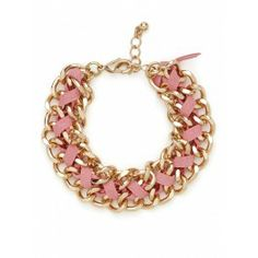 Pink and gold suede wrap bracelet