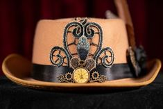 With all the #covidmasks I've been making, it's easy to forget the other things I make as an outlet for my #creativity. This #steampunkstyle #stetson #hat for instance. #hats #hatscouture #hatsdesigner #hatsday #hatseries #hatsfortheroad #hatsformen #hatsforhope #hatsgalore #hatsinthegarden #hatslovers #hatsnothate #hatspiration #hatsrule #hatsreadytobeloved #hatsstyle #hatsstore #hatswithsoul #hatsxclusive #hats4sale #exclusivedesign #steampunkfashion #steampunkhats