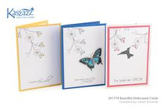 This project will show you how to create three beautiful cards using the Embossing Folders as a feature.