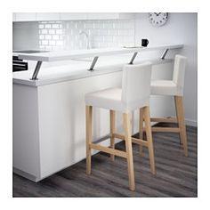 IKEA - HENRIKSDAL, Barhocker, 74 cm, , Mit gepolstertem Sitz für erhöhte Bequemlichkeit.Mit Fußstütze.Stuhlbeine aus Massivholz, einem strapazierfähigen Naturmaterial.Der Bezug ist maschinenwaschbar: pflegeleicht.Der waschbare Bezug für das HENRIKSDAL Stuhlgestell lässt sich leicht anbringen und abnehmen.