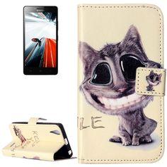 Peňaženkové puzdro Lovely Smiling Cat na Lenovo A6000