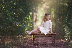 junior-Brautjungfer Kleid rustikale Mädchen von CountryCoutureCo