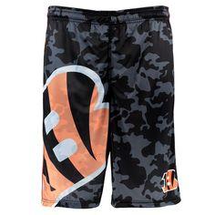 Cincinnati Bengals Klew Big Logo Shorts - Orange/Camo - $33.99