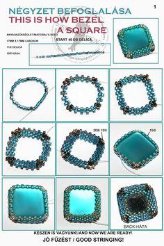 Seed bead jewelry Ewa beaded World: Include Square Bezel Discovred by : Linda Li. - Seed bead jewelry Ewa beaded World: Include Square Bezel Discovred by : Linda Li… – Seed bead - Seed Bead Tutorials, Seed Bead Patterns, Beaded Jewelry Patterns, Embroidery Jewelry, Beading Tutorials, Beading Patterns, Jewelry Making Tutorials, Bracelet Patterns, Beading Techniques