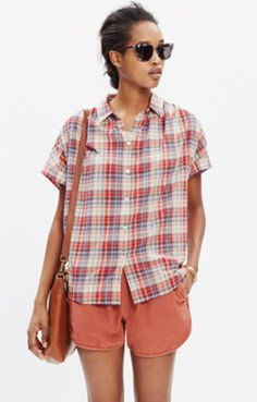 Central Shirt in Bergen Plaid