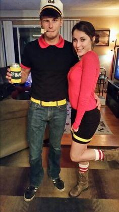 Popeye and olive oyl costume diy