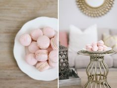 Sweet Little Peanut | Homemade pink almond macaron recipe filled with great tips! Love these pretty treats for Valentine's Day! #macarons