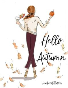 rose hill designs by heather stillufsen Rose Hill Designs, Chillout Zone, Hello Weekend, Preppy Girl, Autumn Art, Hello Autumn, Illustrations, Fall Halloween, Halloween Quotes