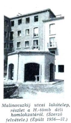 Malinovszkij utcai lakótömb H tömb  fotó: ifj. Horváth Béla forrás: Borsodi Műszaki Élet 1957 okt.