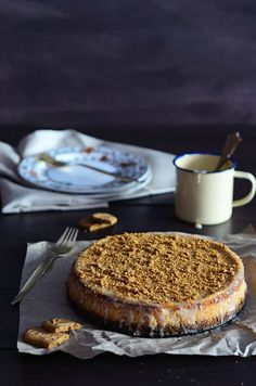 pumpkin, toffee & speculoos cheesecake