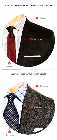 How to match Tie, Collar & Lapel Widths Source
