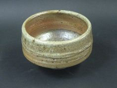 Wood Fired Shino Tea Bowl by PlasketPottery on Etsy. $24.00, via Etsy.