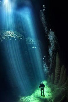 The deep blue sea.