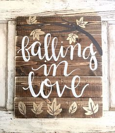 Fall Decor | Rustic Home Decor | Wedding | Falling in Love by SalvagedChicMarket on Etsy https://www.etsy.com/listing/243961599/fall-decor-rustic-home-decor-wedding