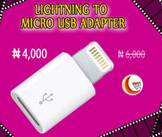 Get online #Lightning To #MICROUSB_Adapter   at best price from Blessing Computers Limited .Go through this link to order now! http://www.blessingcomputers.com/products/3HBZJ2HB6D-LIGHTNING-TO-MICRO-USB-ADAPTER.html