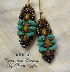PDF Tutorial Beadwoven Earrings Seed Bead Earrings by mybeads4you,  And make a bracelet to match! https://www.etsy.com/listing/156093335/pdf-tutorial-beadwoven-earrings-seed?ref=shop_home_active