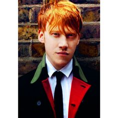 Rupert Grint ❤ liked on Polyvore featuring harry potter, rupert grint, people, backgrounds and celebrities