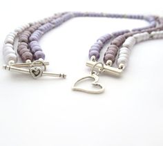 Multiple Strand Necklace With Purple Beads & by MoonlightShimmer, $20.00
