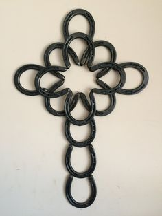 Horseshoe Cross welded Wall Decor by Barnyard2Boutique on Etsy