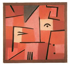 Paul Klee, Glance out of red, 1937, pastel on cotton on coloured paste on burlap, 47 x 50 cm, Zentrum Paul Klee, Berna, Schenkung Livia Klee