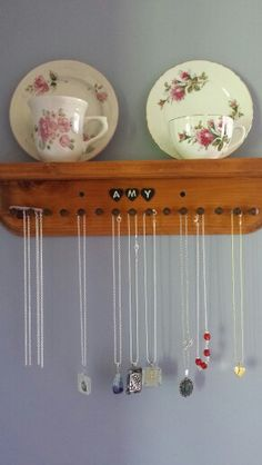 Handmade pegged shelf