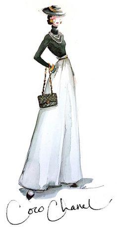 Coco Chanel Fashion Illustration by lotus vip #fashion #illustration #evatornadoblog #mycollection